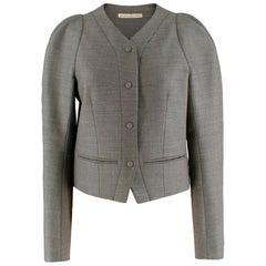 Balenciaga Puff Shoulder Classic Tailored Jacket - Size US 8