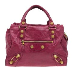 Balenciaga Red Lambskin Leather Giant 21 Midday Bag