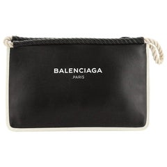 Balenciaga Rope Logo Pouch Leather Small