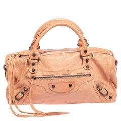 Balenciaga Rose Blush Agneau Leather RH Twiggy Bag