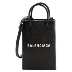 Balenciaga Shopping Phone Holder Leather
