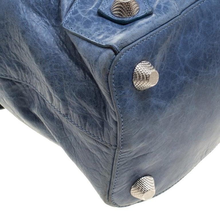 Balenciaga Sky Blue Leather Giant 21 Gold Hardware RTT Bag 5