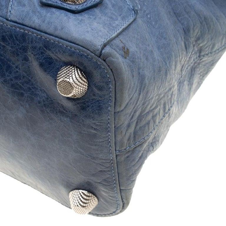 Balenciaga Sky Blue Leather Giant 21 Gold Hardware RTT Bag 6