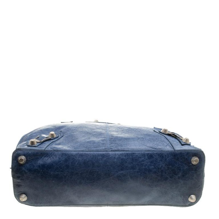 Balenciaga Sky Blue Leather Giant 21 Gold Hardware RTT Bag 1
