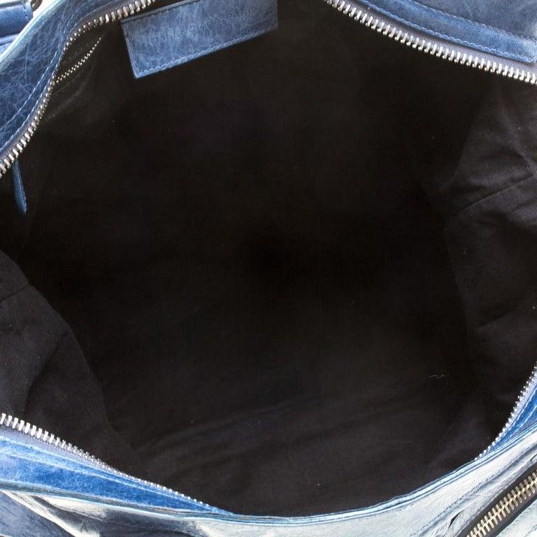 Balenciaga Sky Blue Leather Giant 21 Gold Hardware RTT Bag 2