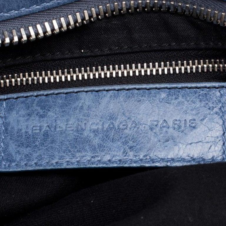 Balenciaga Sky Blue Leather Giant 21 Gold Hardware RTT Bag 4