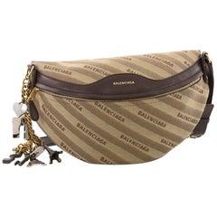 Balenciaga Souvenir Belt Bag Jacquard With Leather XS