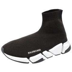 Balenciaga Speed 2.0 Black/White Trainers Size EU 41