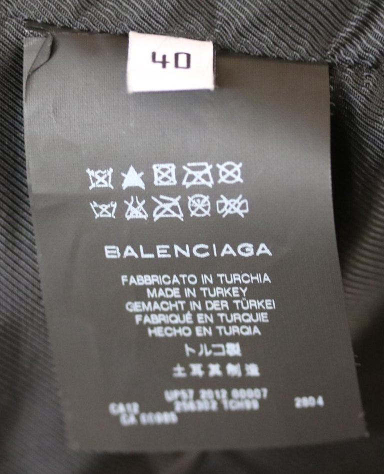 Balenciaga Textured-Leather Biker Jacket For Sale 1