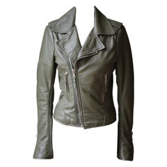 Balenciaga Textured-Leather Biker Jacket