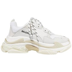 Balenciaga Triple S Suede Leather & Mesh Sneakers