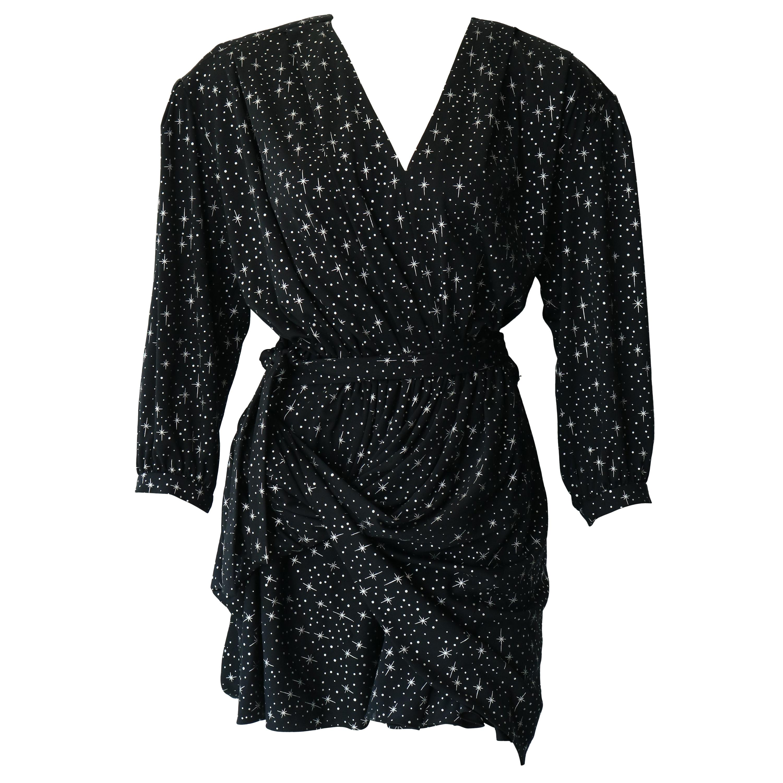 Balenciaga Uplift Star Print Jersey Dress