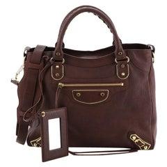 Balenciaga Velo Classic Metallic Edge Bag Leather