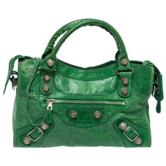 Balenciaga Vert Gazon Leather SGH City Tote
