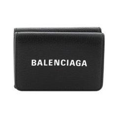 Balenciaga Ville Flap Wallet Leather Mini