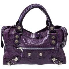Balenciaga Violet Leather SH City Bag