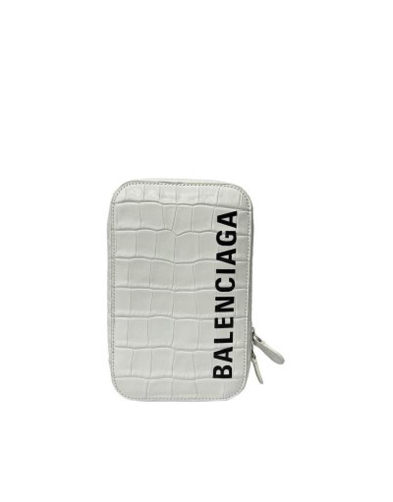 Balenciaga White Leather Mini Shoulder Bag For Sale 6