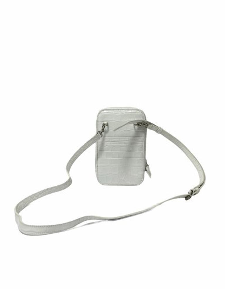 Gray Balenciaga White Leather Mini Shoulder Bag For Sale
