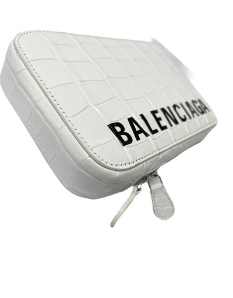 Balenciaga White Leather Mini Shoulder Bag For Sale 2