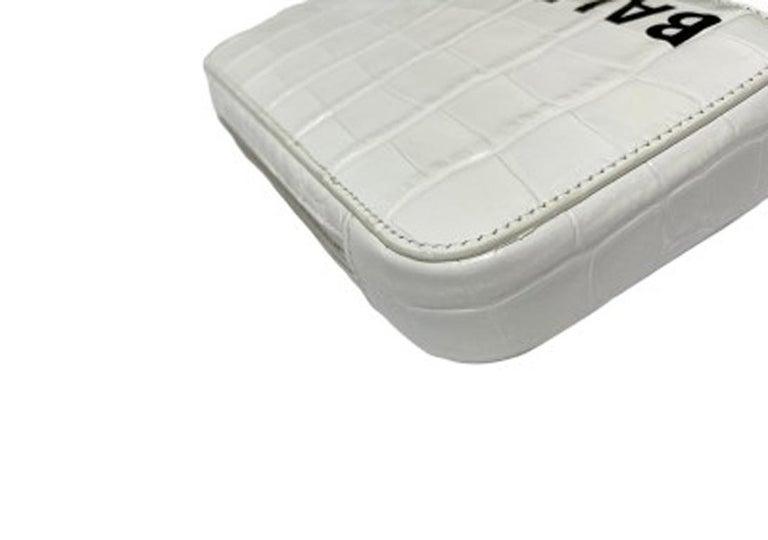Balenciaga White Leather Mini Shoulder Bag For Sale 3