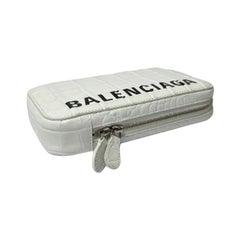Balenciaga White Leather Mini Shoulder Bag