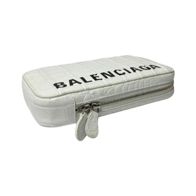 Balenciaga White Leather Mini Shoulder Bag For Sale