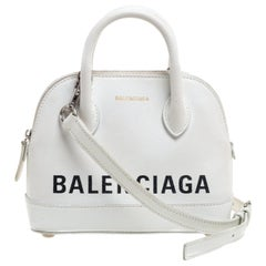 Balenciaga White Leather XXS Ville Bag