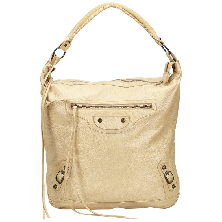 c4561c022 Balenciaga White Motocross Leather Day Bag For Sale at 1stdibs