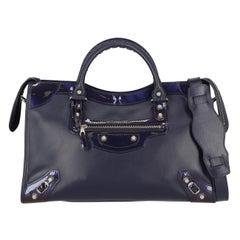 Balenciaga Woman Handbag City Navy Leather