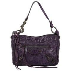 Balenciaga Woman Handbag Purple Leather