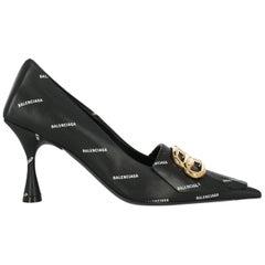 Balenciaga Woman Pumps Black Leather IT 36.5