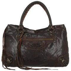 Balenciaga Woman Shoulder bag Brown Leather