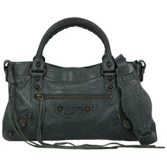 Balenciaga Woman Shoulder bag City Navy Leather