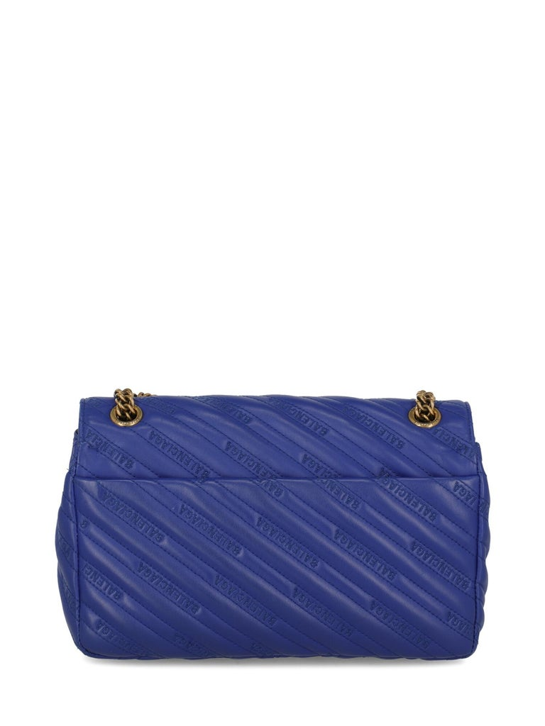 Balenciaga Woman Shoulder bag  Navy Leather In Good Condition For Sale In Milan, IT