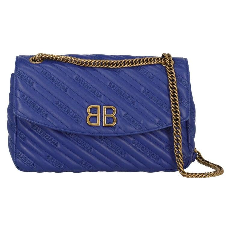 Balenciaga Woman Shoulder bag  Navy Leather For Sale