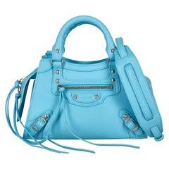 Balenciaga  Women   Handbags  Blue Leather
