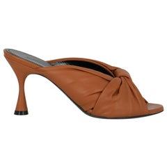 Balenciaga  Women   Mules  Brown Leather EU 37