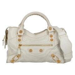 Balenciaga Women's City White Leather