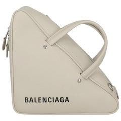 Balenciaga Women's Handbag Grey Leather