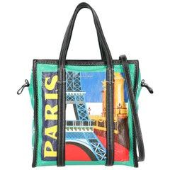 Balenciaga Women's Tote Bag Bazaar Multicolor Leather