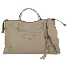 Balenciaga Women's Tote Bag Blackout Grey  Leather