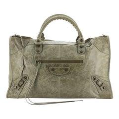 Balenciaga Work Classic Studs Bag Leather