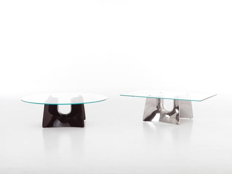 Modern Baleri Italia Bentz Low Square Aluminium Coffee Table by Jeff Miller For Sale
