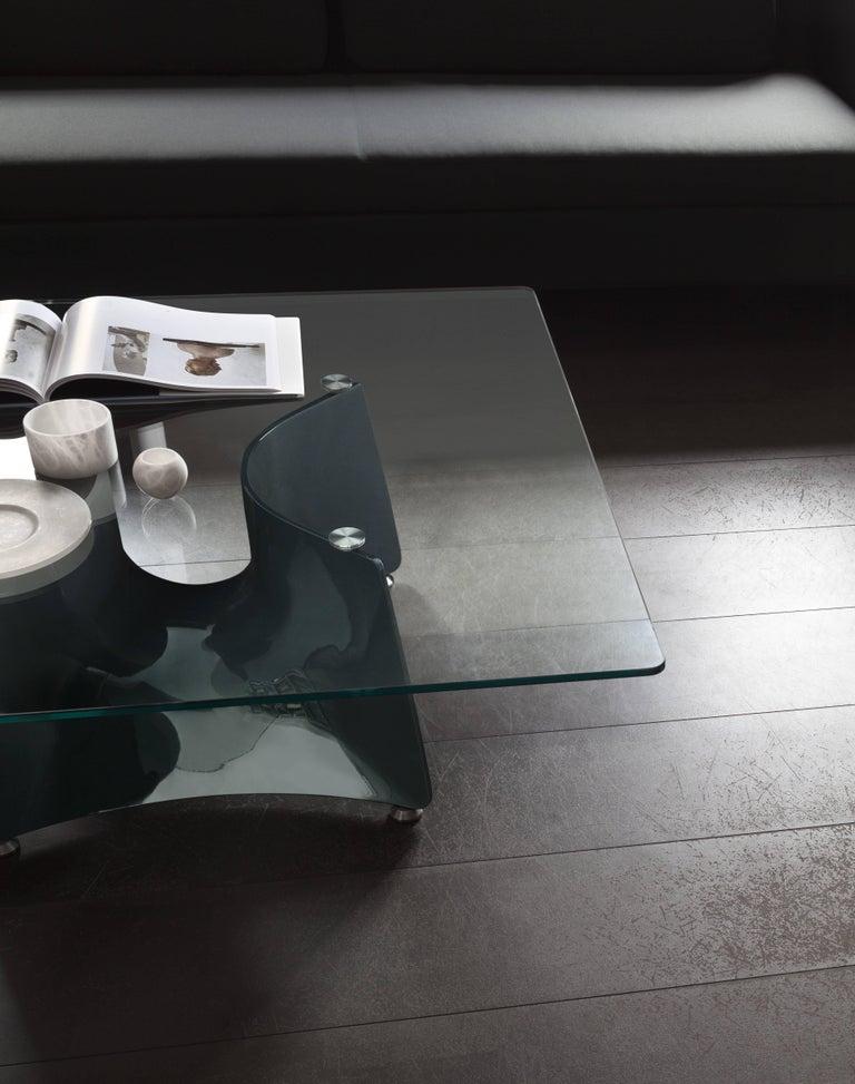 Italian Baleri Italia Bentz Low Square Aluminium Coffee Table by Jeff Miller For Sale