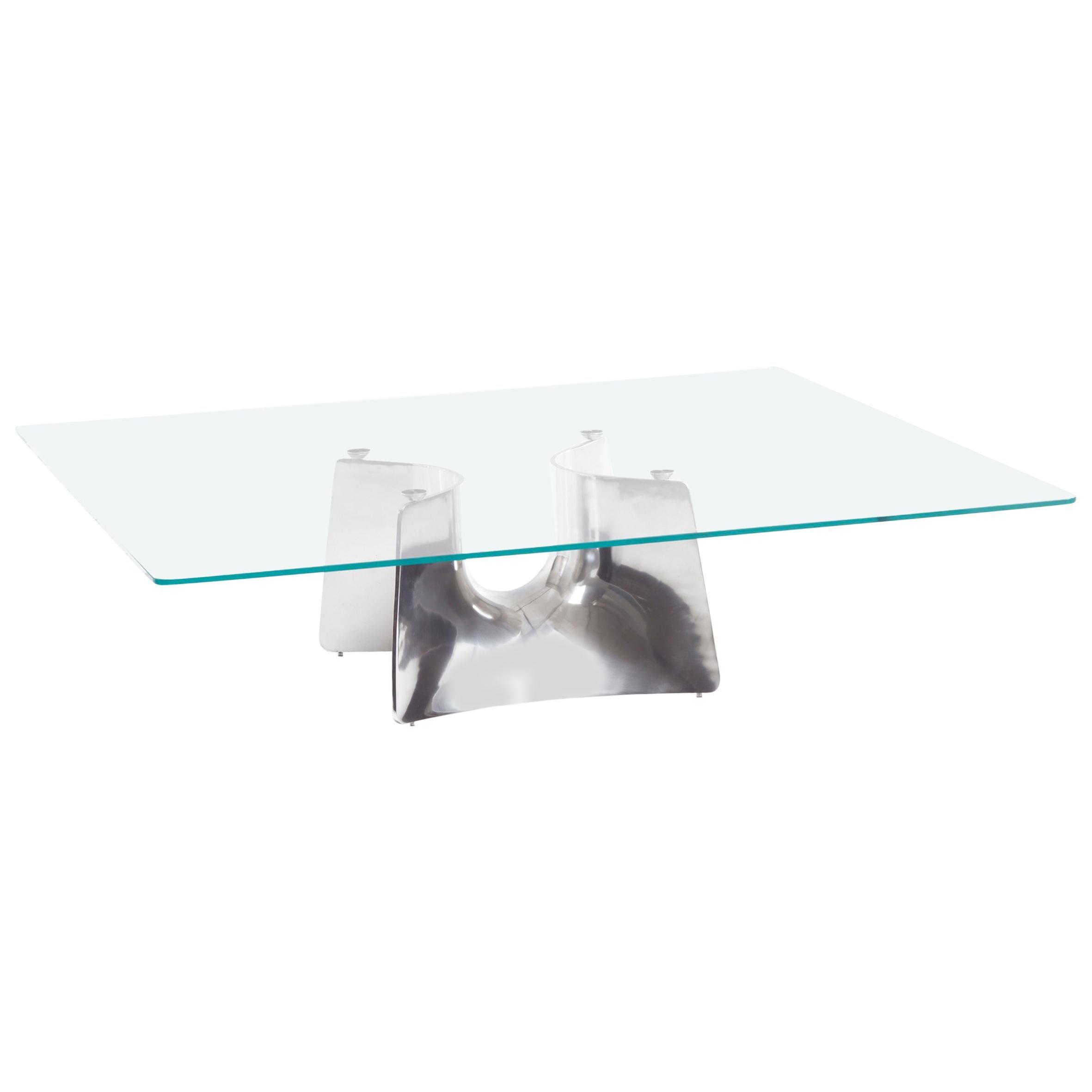 Baleri Italia Bentz Low Square Aluminium Coffee Table by Jeff Miller