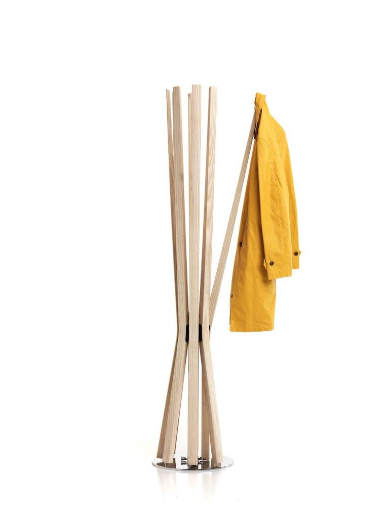 Modern Baleri Italia Bloom Coat Hanger in Solid Natural Material by Jeff Miller For Sale
