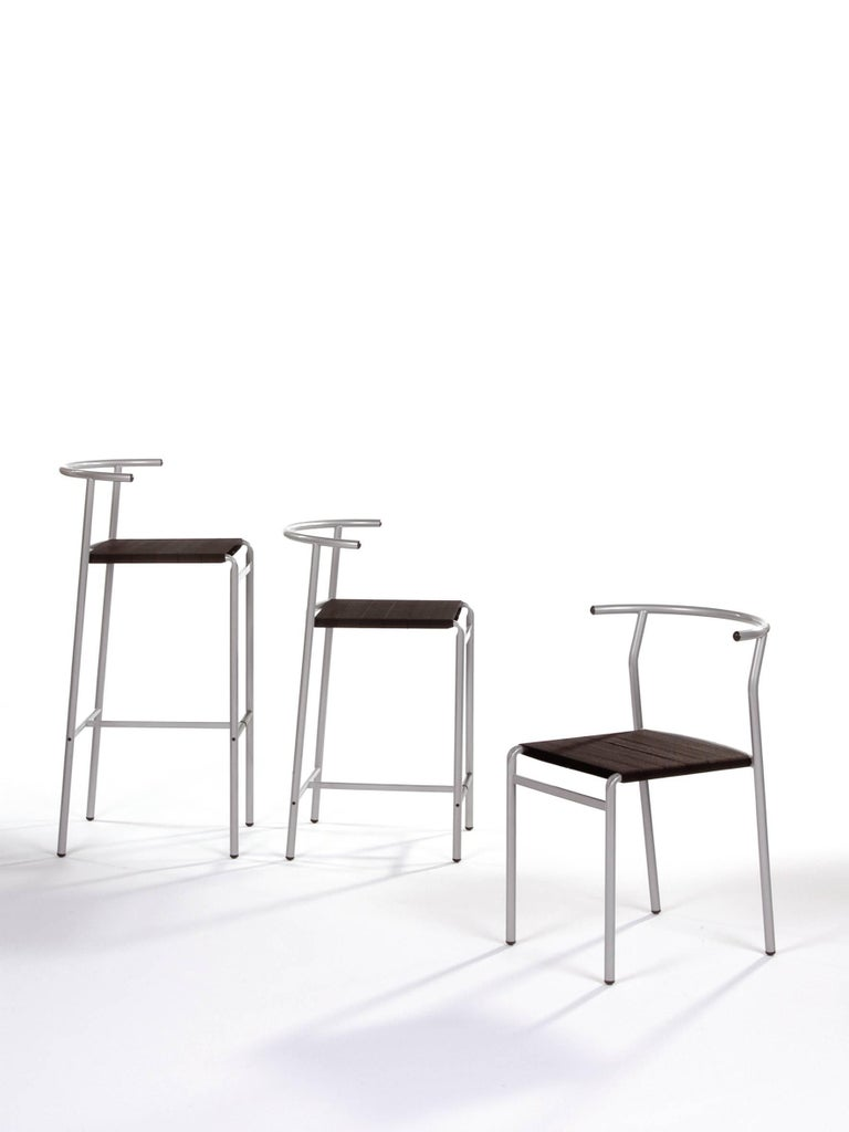 Baleri Italia Caf 232 Chair In Steel By Philippe Starck For