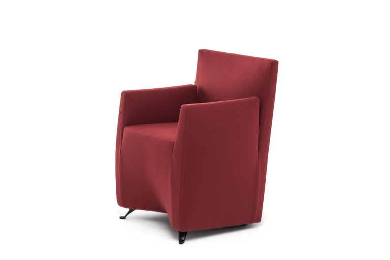 Baleri Italia Caprichair Armchair In Pink Fabric By Hannes