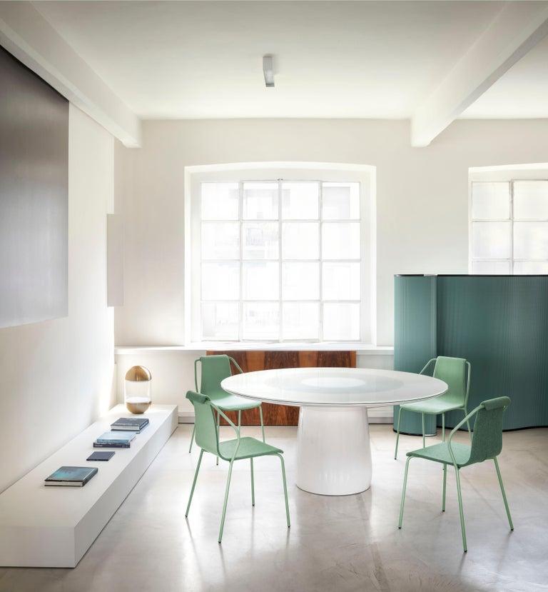 Modern Baleri Italia Donna Indoor Chair in Green Fabric by Studio Irvine For Sale