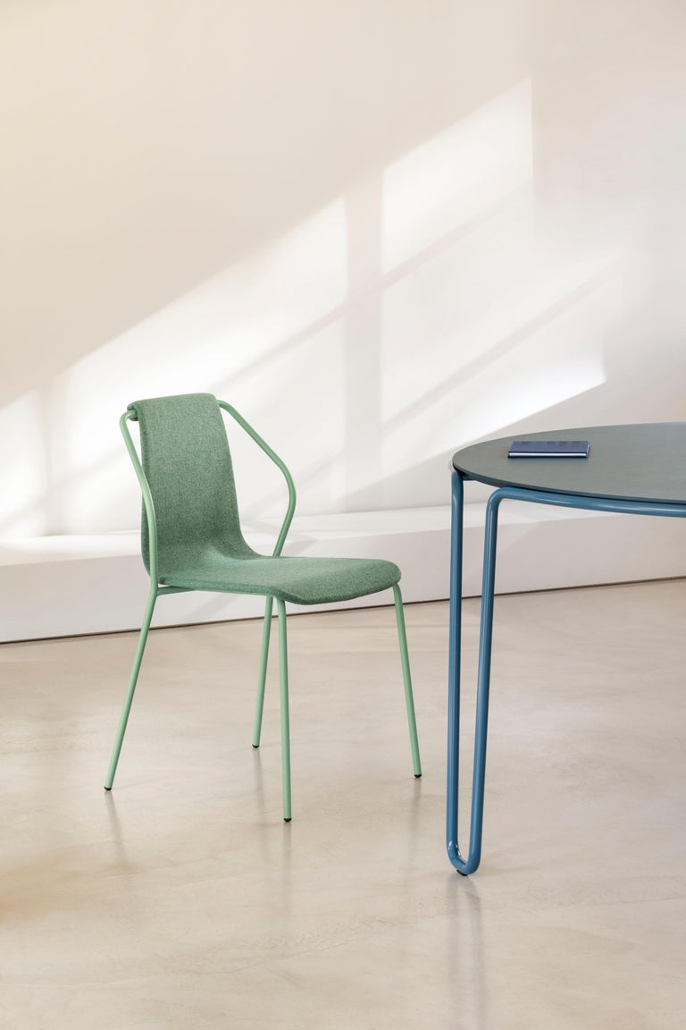 Italian Baleri Italia Donna Indoor Chair in Green Fabric by Studio Irvine For Sale